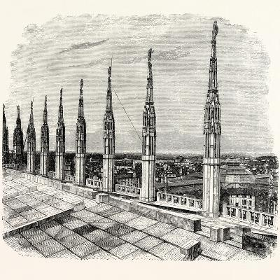 Pinnacles of Milan Cathedral--Giclee Print