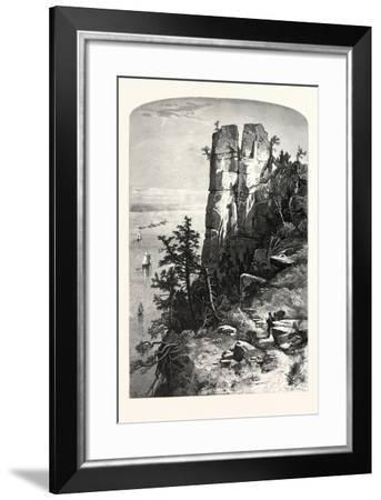 Pinnacles of the Palisades, USA-John Douglas Woodward-Framed Giclee Print
