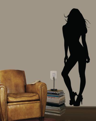 Pinup Girl--Wall Decal
