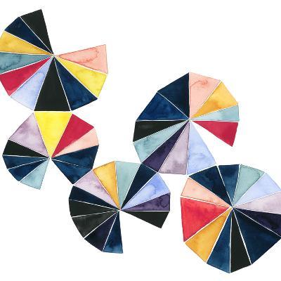 Pinwheel Bright II-Grace Popp-Art Print