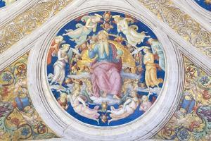 Creator Enthroned Among Angels and Cherubs, 1508 by Pio Panfili