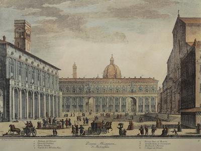 Italy, Bologna, Piazza Maggiore or Piazza Grande