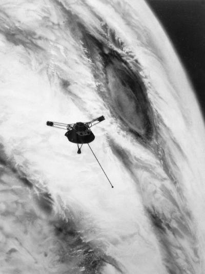 Pioneer Passing over Jupiter's Red Spot--Photographic Print