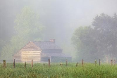 Pioneer's Cabin, Misty Cades Cove, Great Smoky Mountains National Park, Tennessee, USA--Photographic Print
