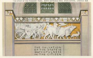 Pioneers Panel, State Capitol, Lincoln, Nebraska