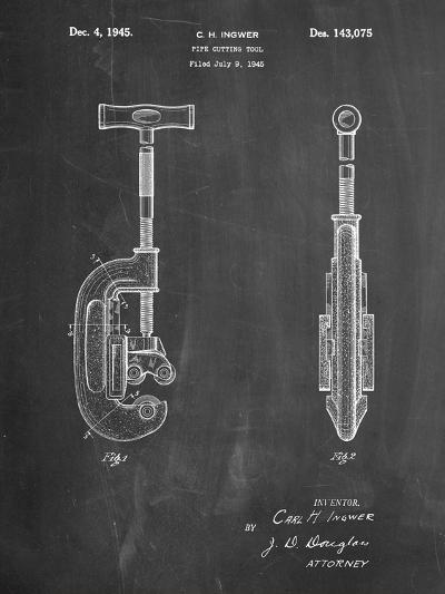 Pipe Cutting Tool Patent-Cole Borders-Art Print