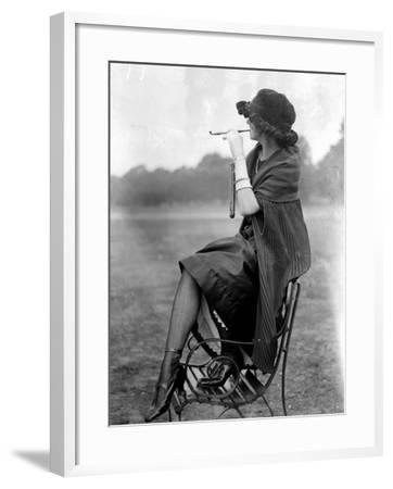 Pipe Fashions--Framed Photographic Print