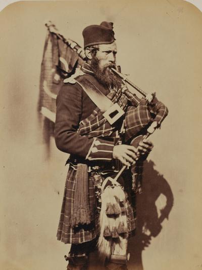 Pipe-Major Macdonald, 72nd (Duke of Albany's Own Highlanders) Regiment of Foot- Joseph Cundall and Robert Howlett-Photographic Print