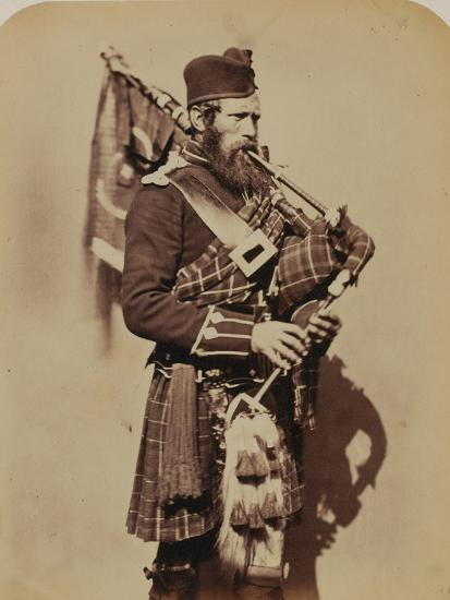 Pipe-Major Macdonald, 72nd (Duke of Albany's Own Highlanders) Regiment of Foot- Joseph Cundall and Robert Howlett-Photographic Print