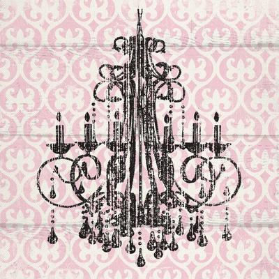 Pink Pattern Chandelier I