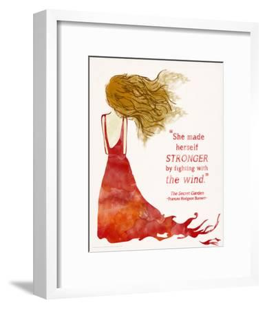 She Made Herself Stronger -Secret Garden Children`s Literature Quote Poster