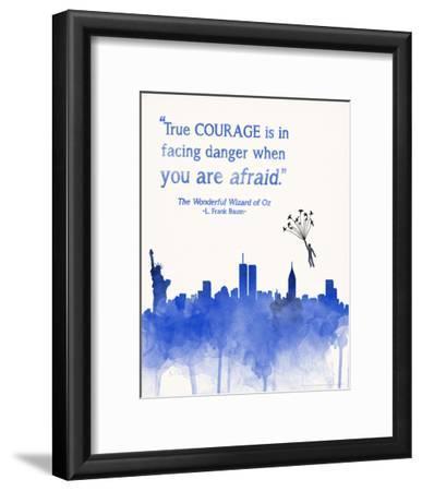 True Courage - Children`s Wizard of Oz Literature Quote Poster
