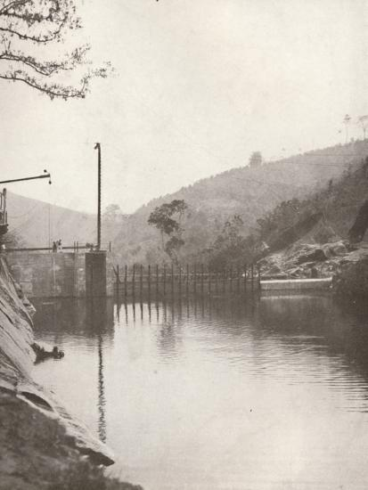 'Pirahy Diversion (Dam from up stream) of the Rio Light and Power Works', 1914-Unknown-Photographic Print