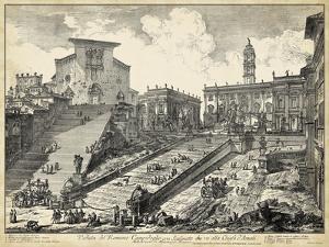 Veduta del Romano Campidoglio by Piranesi