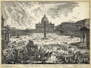 Veduta della Basilica di S.Pietro by Piranesi