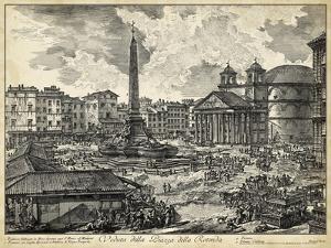 Veduta della Piazza della Rotunda by Piranesi