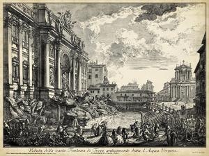 Veduta della Vasta Fontana di Trevi by Piranesi