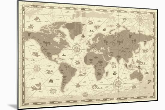 Pirate Map-Marcus Jules-Mounted Giclee Print