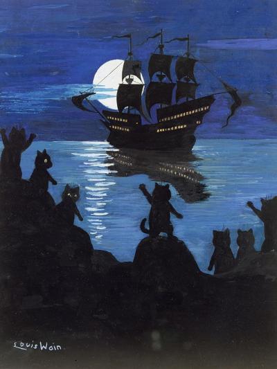Pirate Pussies, C.1901-15-Louis Wain-Giclee Print