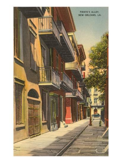 Pirates' Alley, New Orleans, Louisiana--Art Print
