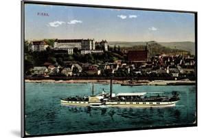 Pirna, Dampfer König Georg, Blick Zum Ort M. Schloss