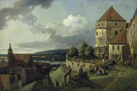 Pirna Seen from Sonnenstein Castle, Between 1753-55-Canaletto-Giclee Print