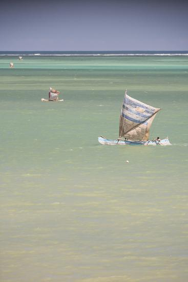 Pirogue, a Traditional Madagascar Sailing Boat, Ifaty Beach, Madagascar, Africa-Matthew Williams-Ellis-Photographic Print