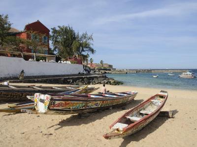 Pirogues (Fishing Boats) on Beach, Goree Island, Near Dakar, Senegal, West Africa, Africa-Robert Harding-Photographic Print