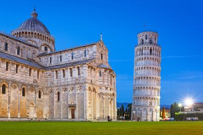 Pisa, Italy. Catherdral and the Leaning Tower of Pisa at Piazza Dei Miracoli.-Patryk Kosmider-Photographic Print