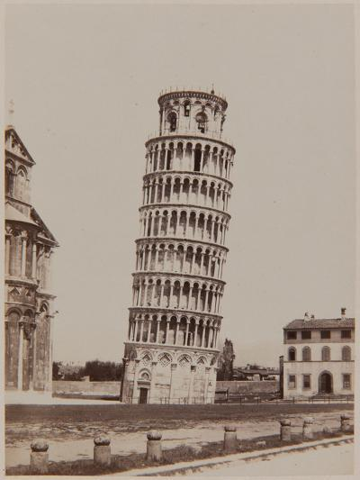Pisa, the Leaning Tower, Ca, 1855-Enrico Van Lint-Photographic Print