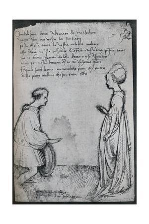 A Love Duet, (c15th century), 1925