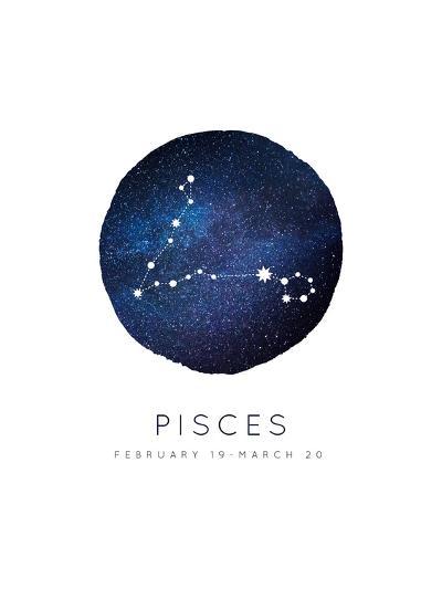 Pisces Zodiac Constellation-Rebecca Lane-Art Print