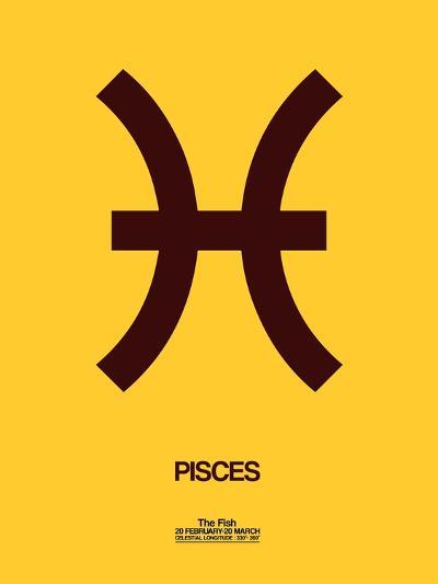 Pisces Zodiac Sign Brown Art Print By Naxart Art Com