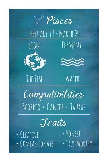 Pisces Zodiac Sign-Veruca Salt-Art Print