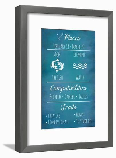 Pisces Zodiac Sign-Veruca Salt-Framed Art Print