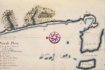 Pisco, Peru, from Voyage by Mr. De Frondat, 1708--Giclee Print