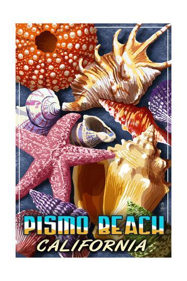 Pismo Beach, California - Shell Montage-Lantern Press-Art Print