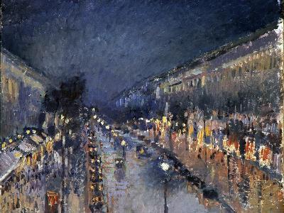 Pissarro: Paris at Night-Camille Pissarro-Giclee Print