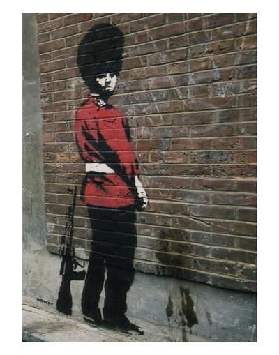 Pissing Soldier-Banksy-Art Print