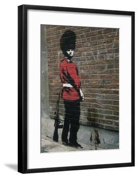 Pissing Soldier-Banksy-Framed Giclee Print