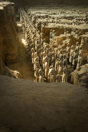 Pit 1, Warrtiors, Terracotta Army, UNESCO World Heritage Site, Xian, Shaanxi, China, Asia-Janette Hill-Photographic Print