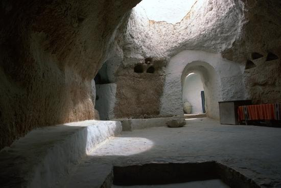 Pit dwelling in Tunisia-Unknown-Photographic Print