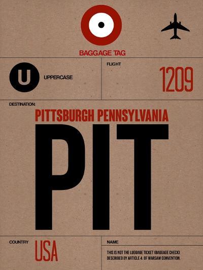 PIT Pittsburgh Luggage Tag 1-NaxArt-Art Print