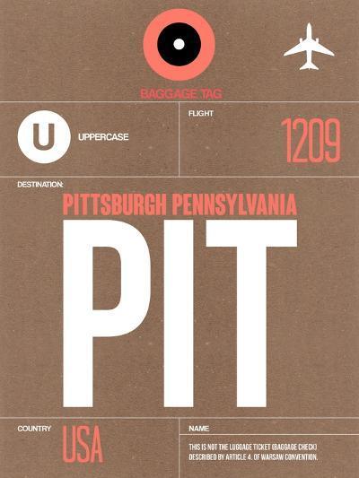 PIT Pittsburgh Luggage Tag 2-NaxArt-Art Print