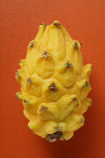 Pitahaya on Red Background-Foodcollection-Photographic Print