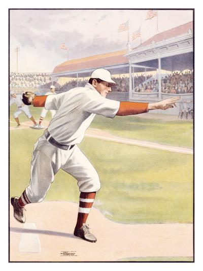 Pitcher at the Mound, Strike One--Giclee Print