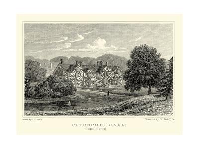 Pitchford Hall-J^p^ Neale-Art Print
