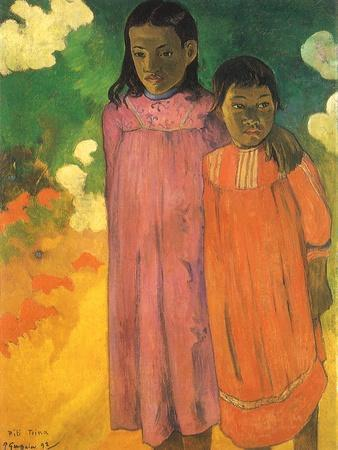 Piti Teina (Two Sisters), 1892-Paul Gauguin-Framed Giclee Print