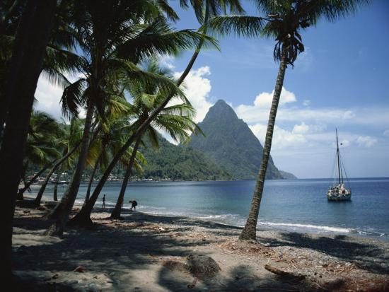 Pitons, St. Lucia, Windward Islands, West Indies, Caribbean, Central America-Harding Robert-Photographic Print