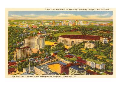Pitt Stadium, Hospitals, Pittsburgh, Pennsylvania--Art Print